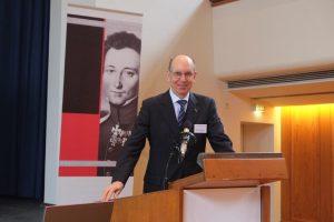 Präsident Kurt Herrmann begrüßt die Teilnehmer